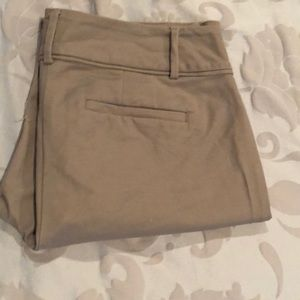 Ann Taylor LOFT curvy Trousers in taupe